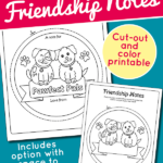 Cute Puppy Best Friends Notes {free printable}