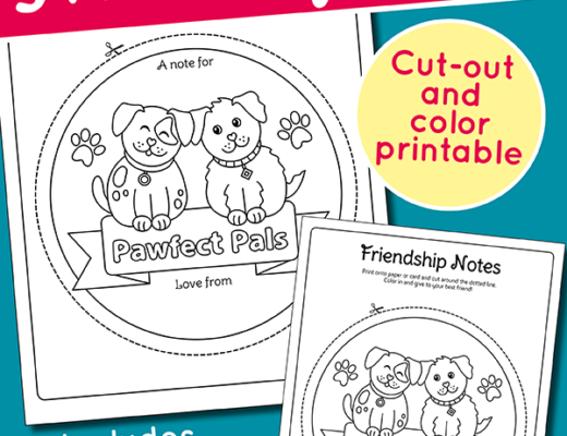 Cute Puppy Best Friends Notes free printable