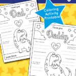 Free Father's Day colouring sheet and printable