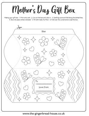 free gift box template