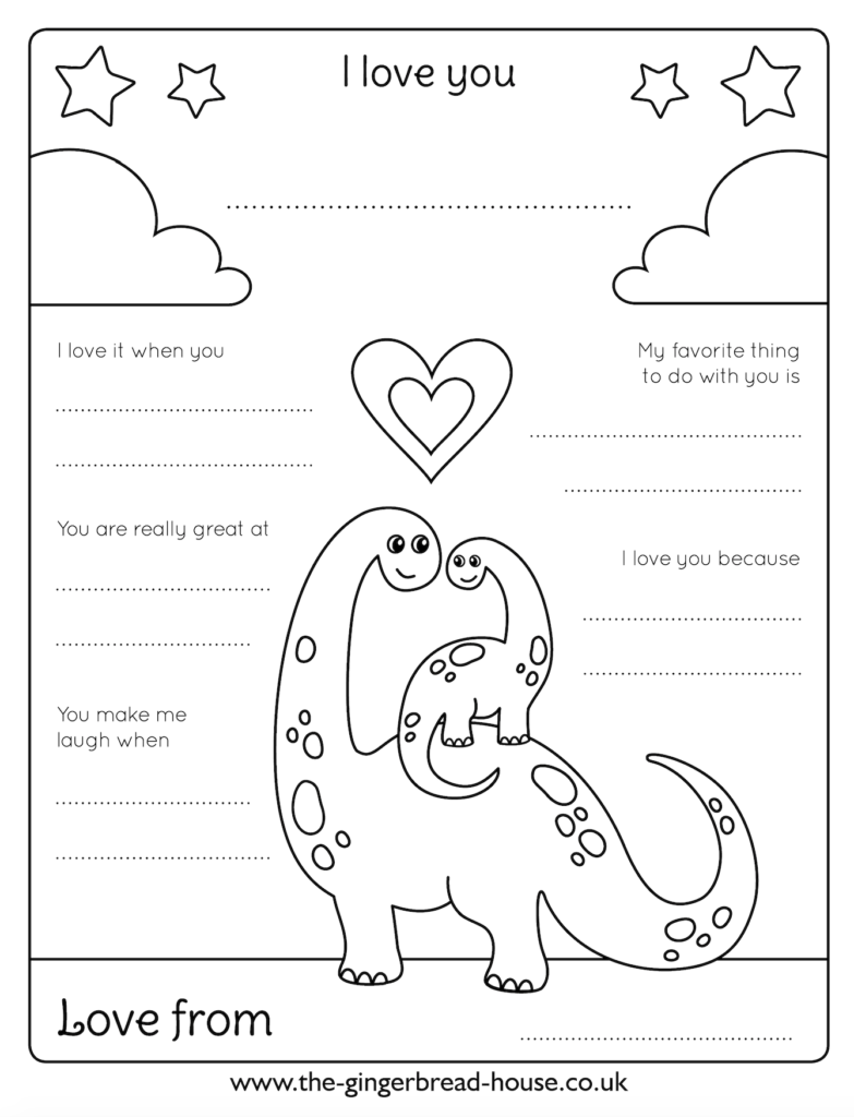 free Father's Day colouring sheet