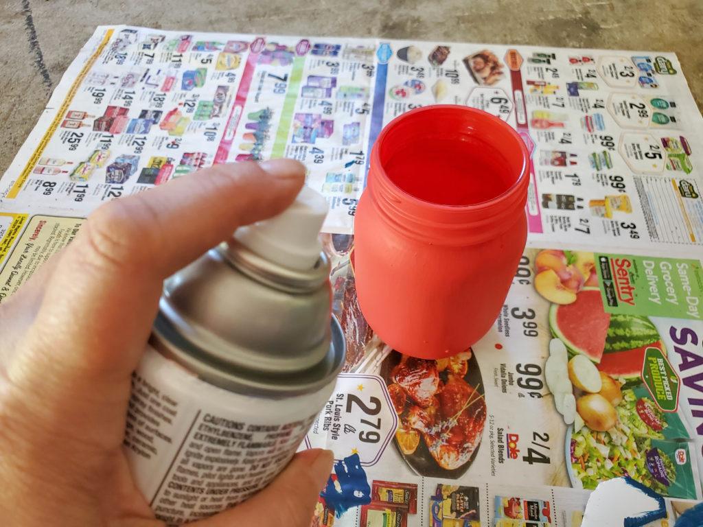 How to make a Stars & Stripes Mason Jar