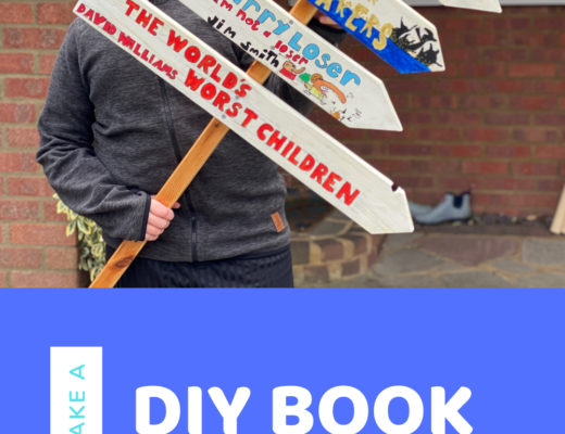 How to make a DIY book sign post