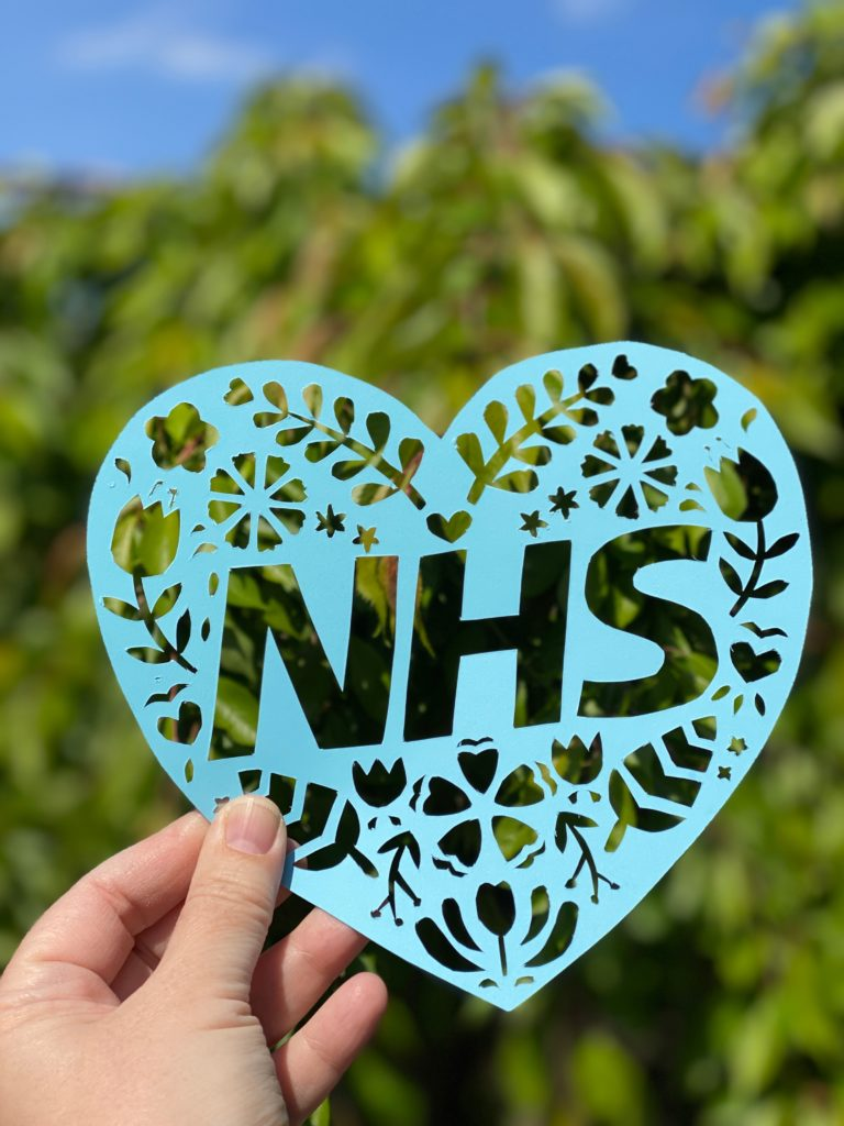 NHS papercutting template