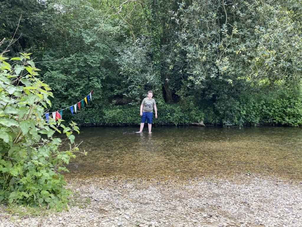 paddling beach at Denham Country Park