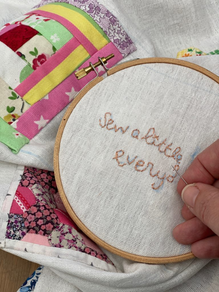 My Sew A Little Happiness Every Day sampler