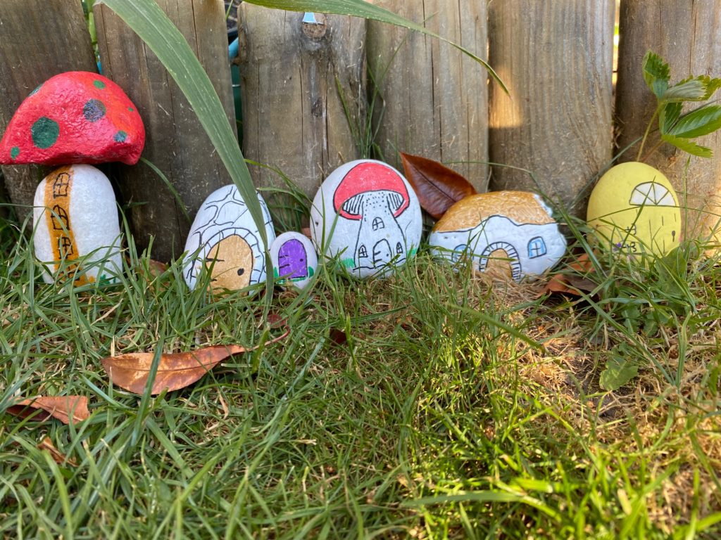 painted rock fairy houses and doors