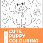 Free puppy colouring sheets {free printable}