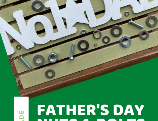 Father's Day nuts and bolts sign
