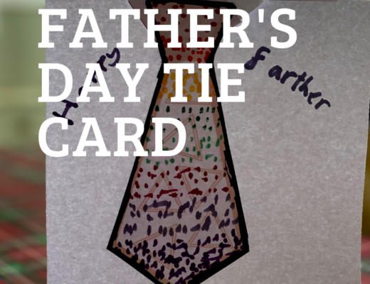 Last minute Father's Day tie card