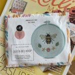 Summer Bee embroidery hoop