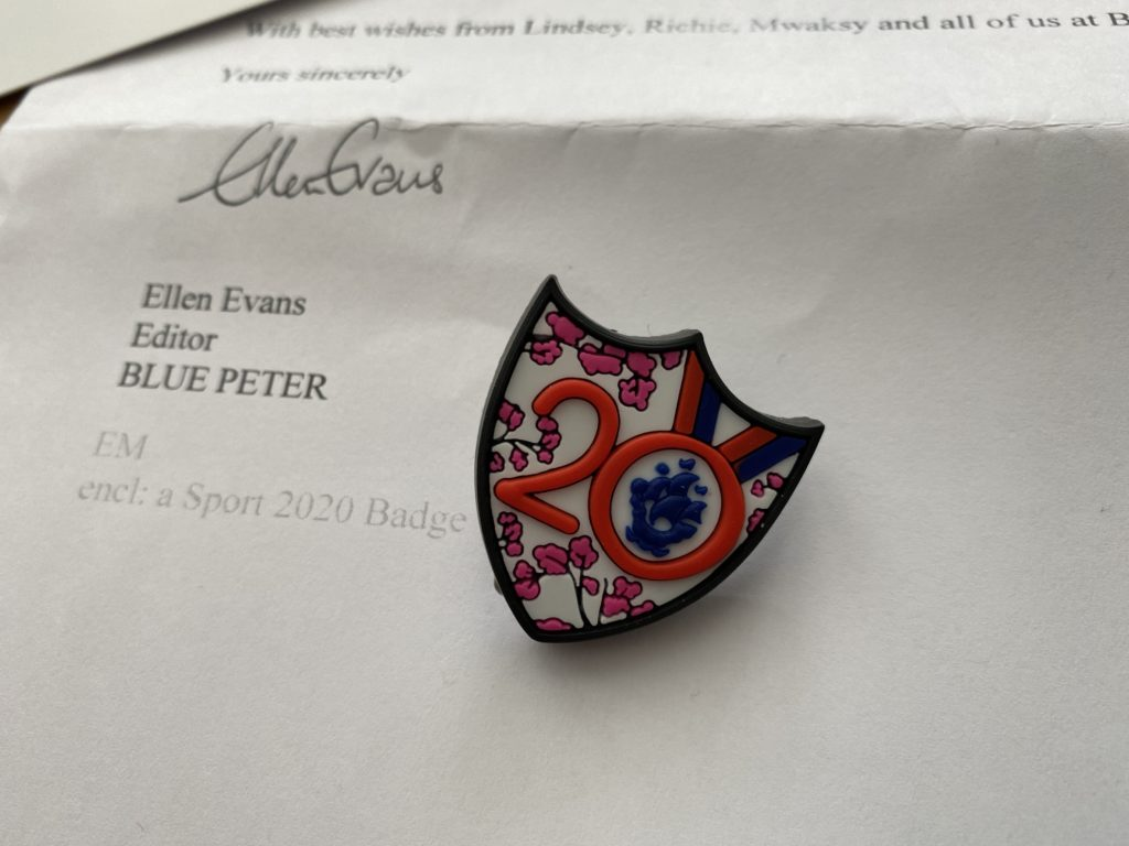 limited edition 2020 Blue Peter Sports badge