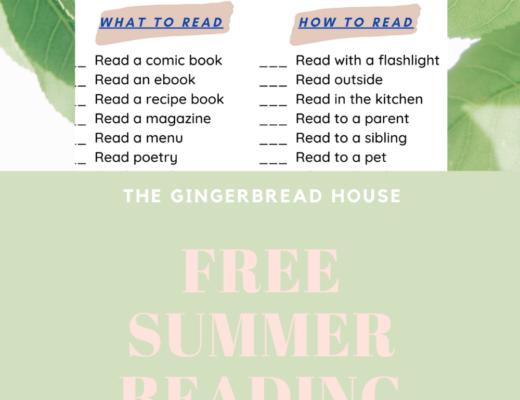 Free Summer Reading Challenge checklist