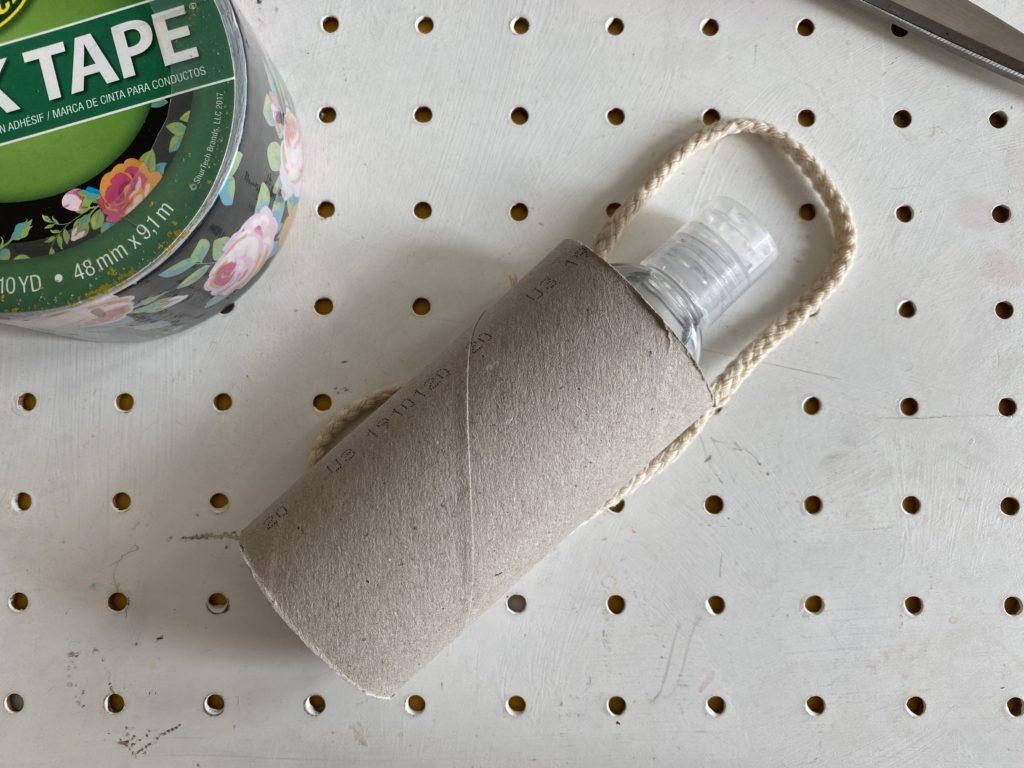 Supplies to make Duck Tape hand sanitiser holder