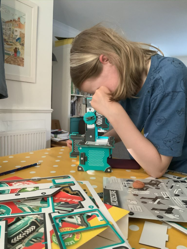 using the Build Your Own Microscope kit