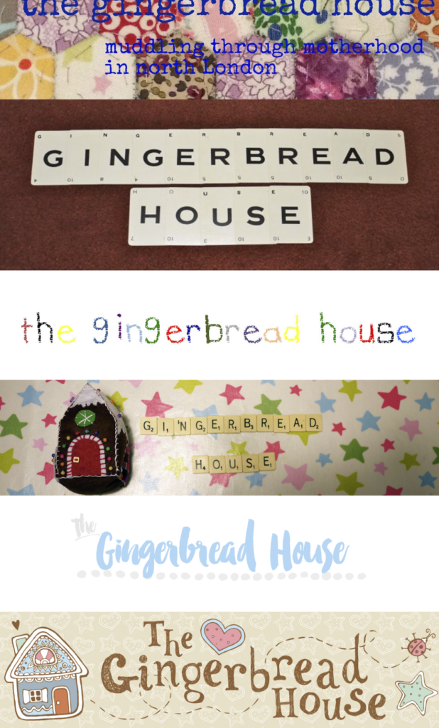 the gingerbread house blog headers