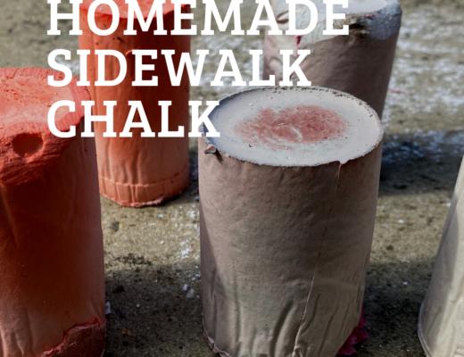 Easy homemade sidewalk chalk