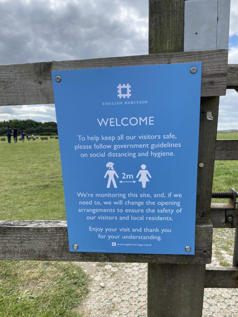 social distancing at Woodhenge