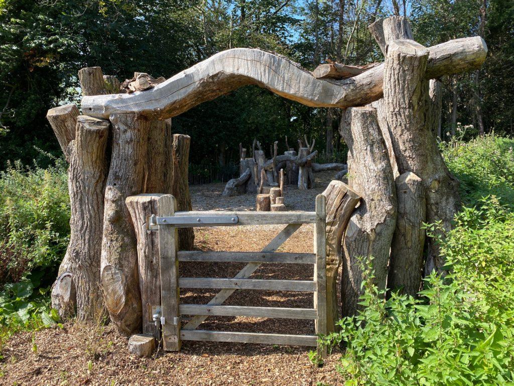new outdoor play area at Hughenden