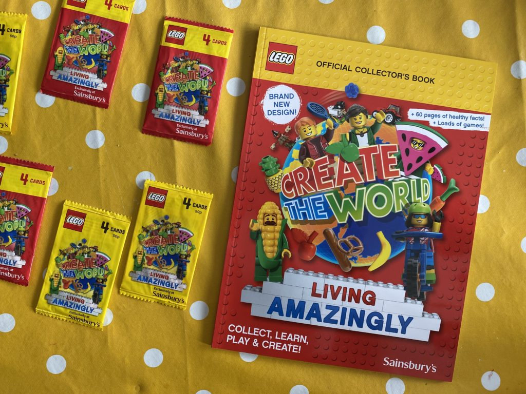Sainsbury's Lego Collectables album and trading cards