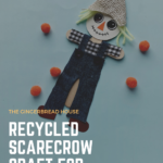 Recycled Scarecrow craft for kids {and free printable}
