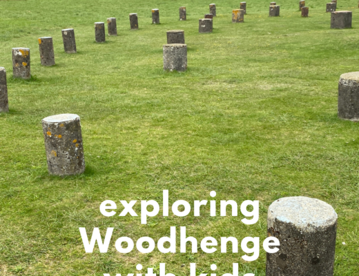 Exploring Woodhenge with kids