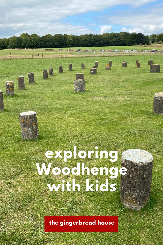Exploring Woodhenge with kids