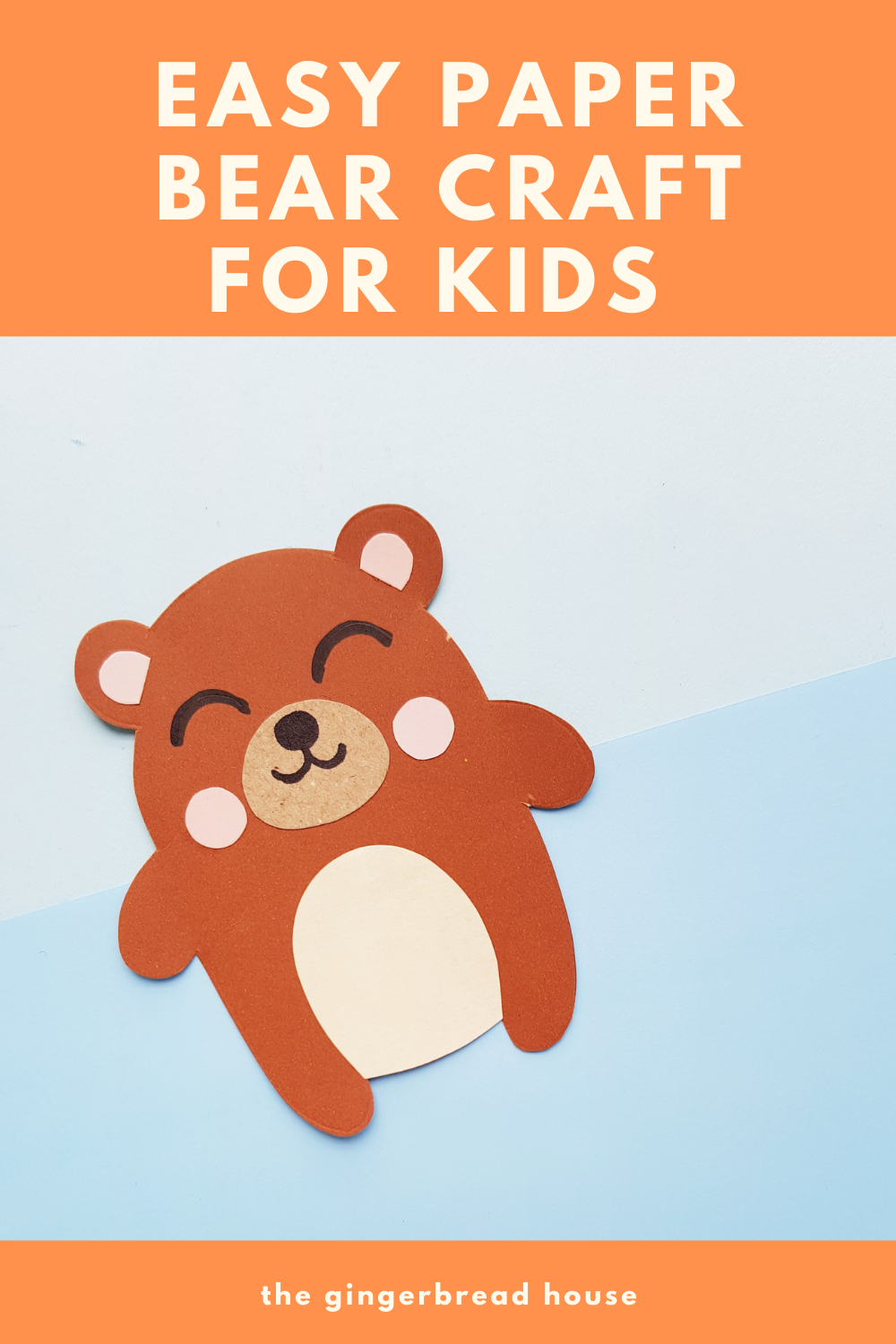 Paper bear craft for kids