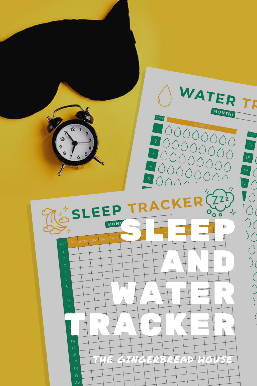 {Free printable} Sleep and Water tracker