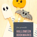 {Free printable} Easy Halloween Bookmarks