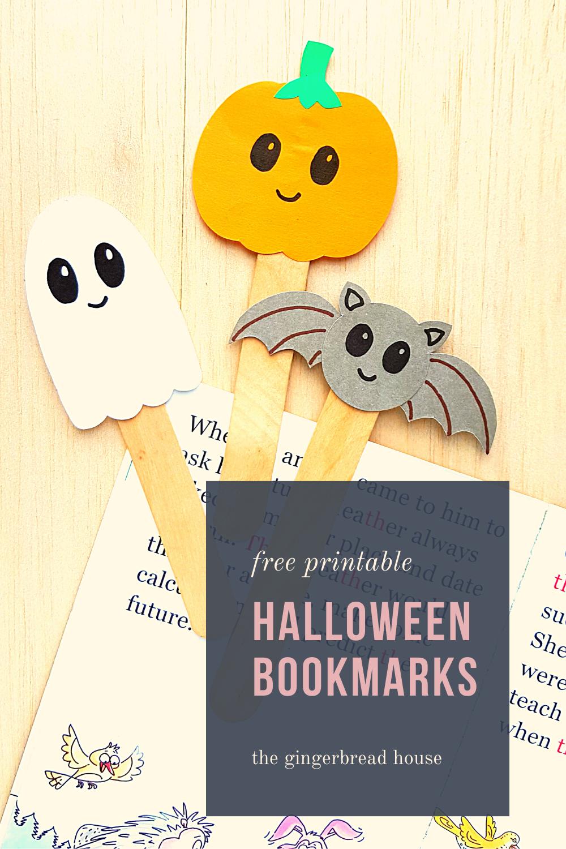 Easy Halloween Bookmarks
