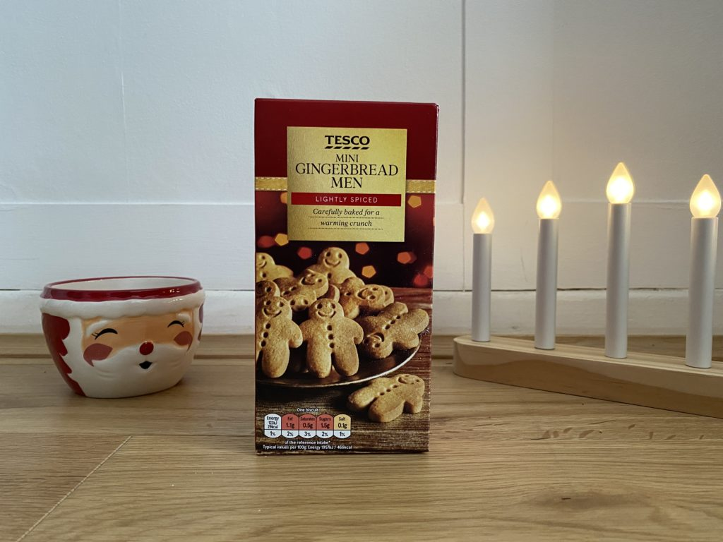 Tesco Mini Gingerbread Men biscuits