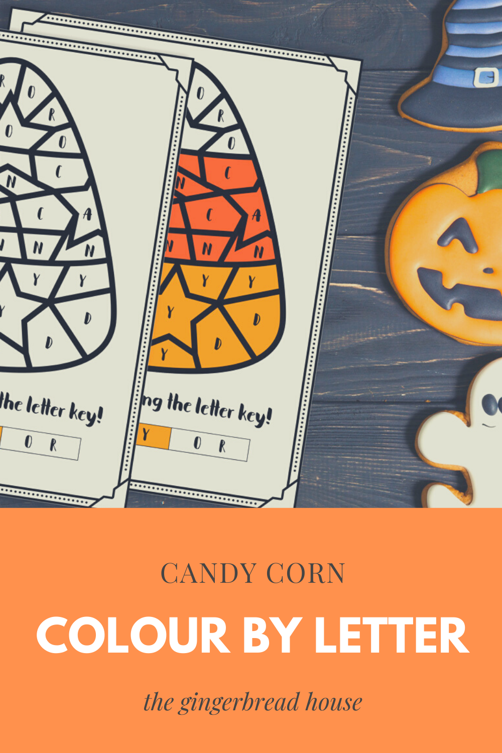 {Free printable} Candy Corn colouring sheet
