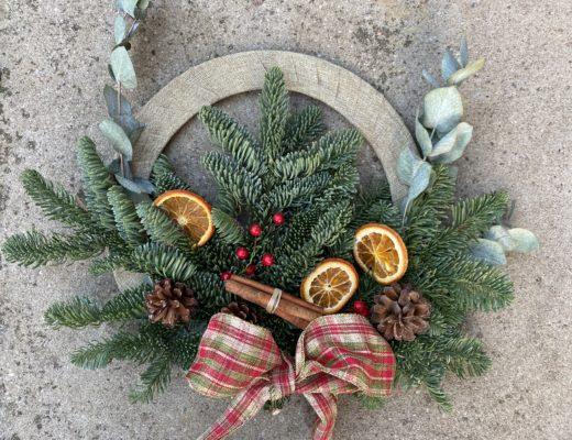 Christmas Wreath Kit from I Do Handmade
