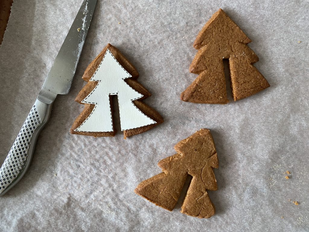 trimming the gingerbread