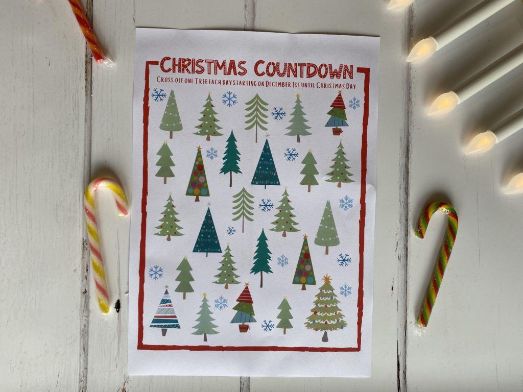 alternative Christmas countdown for kids