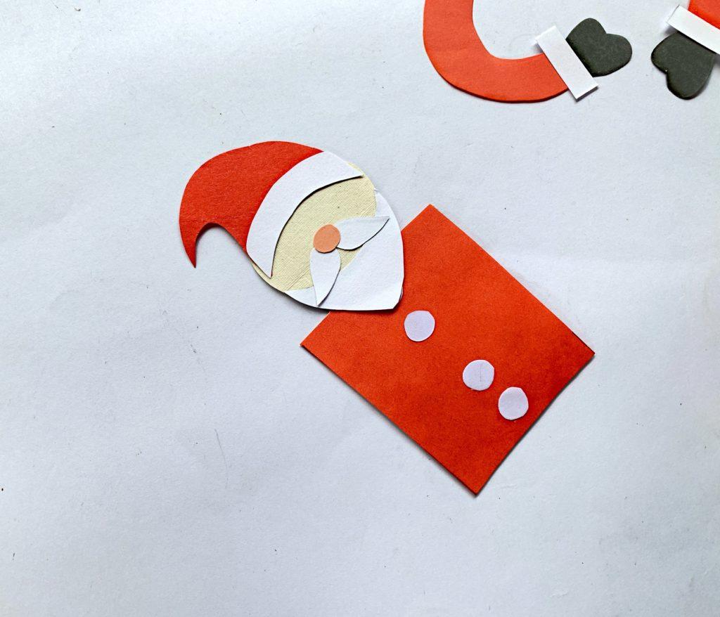 Father Christmas bookmark craft