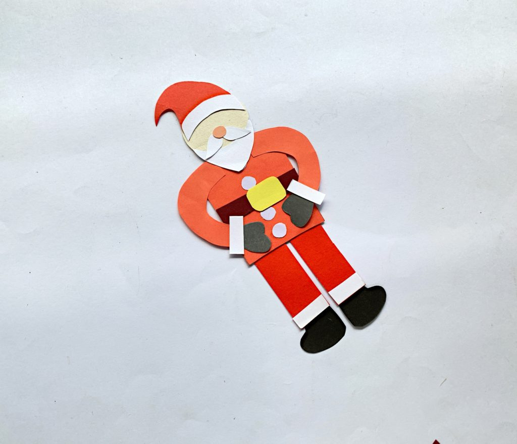 Father Christmas bookmark craft for kids to make