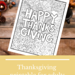{Free} Thanksgiving colouring sheet for adults