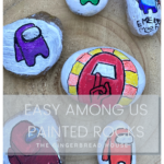 Easy Among Us painted rocks