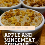 Easy Apple and mincemeat crumble