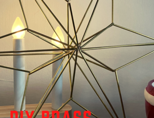 Simple Brass Himmeli Star decoration