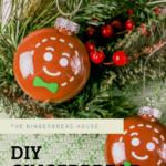 Cricut-made DIY gingerbread man bauble
