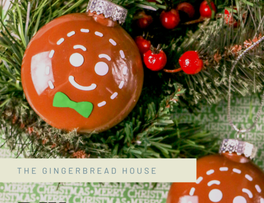 DIY gingerbread man bauble