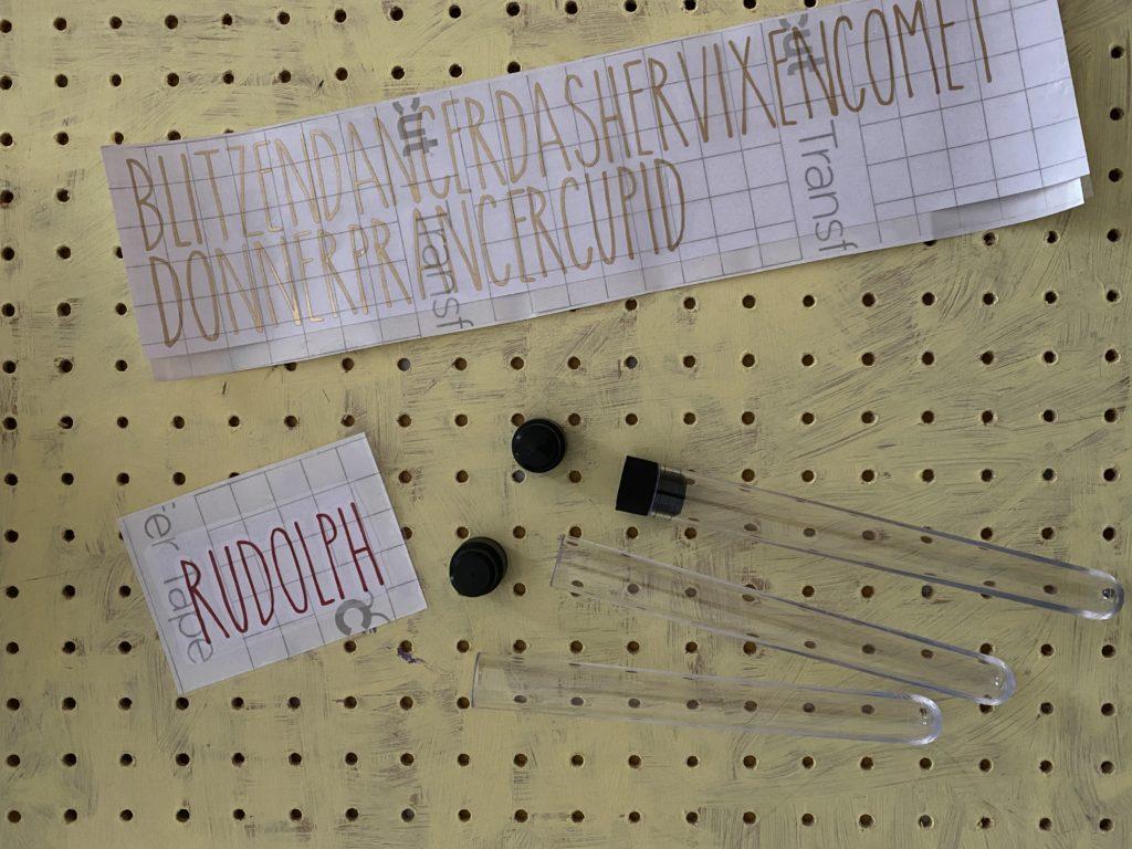 Cricut made magic reindeer food tubes