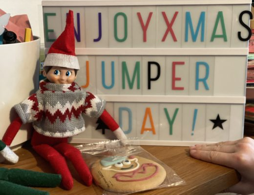 elves wearing xmas jumpers for Christmas Jumper Day