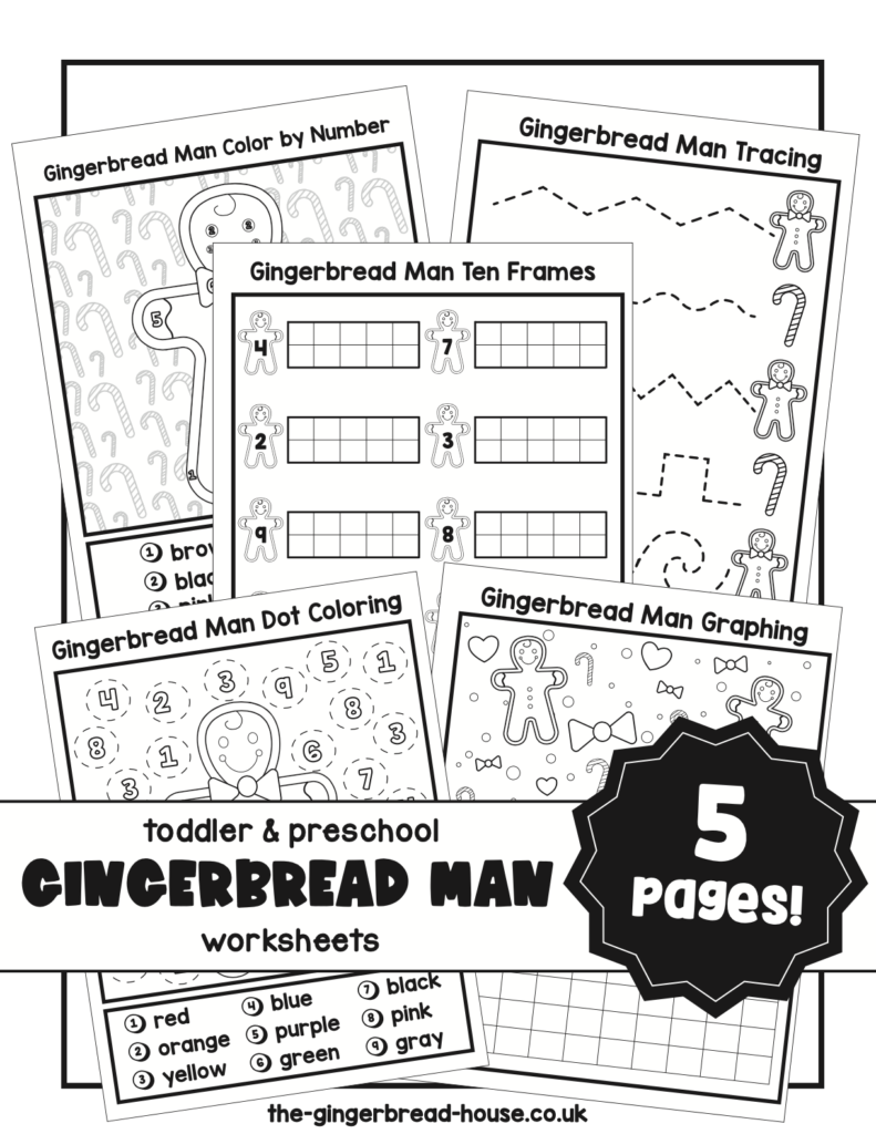 gingerbread man activity pack