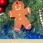 Baking edible gingerbread decorations