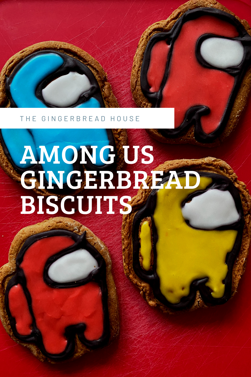 Among Us gingerbread biscuits