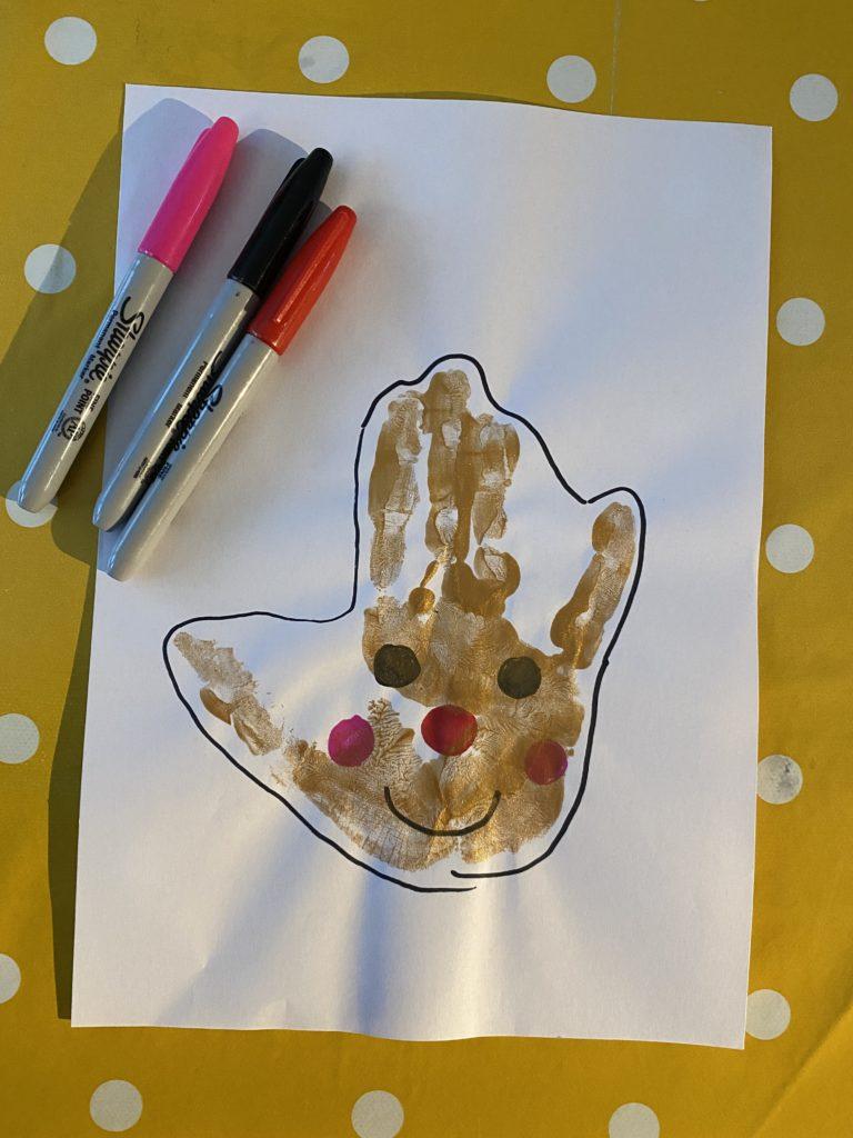 how to make a handprint gingerbread man